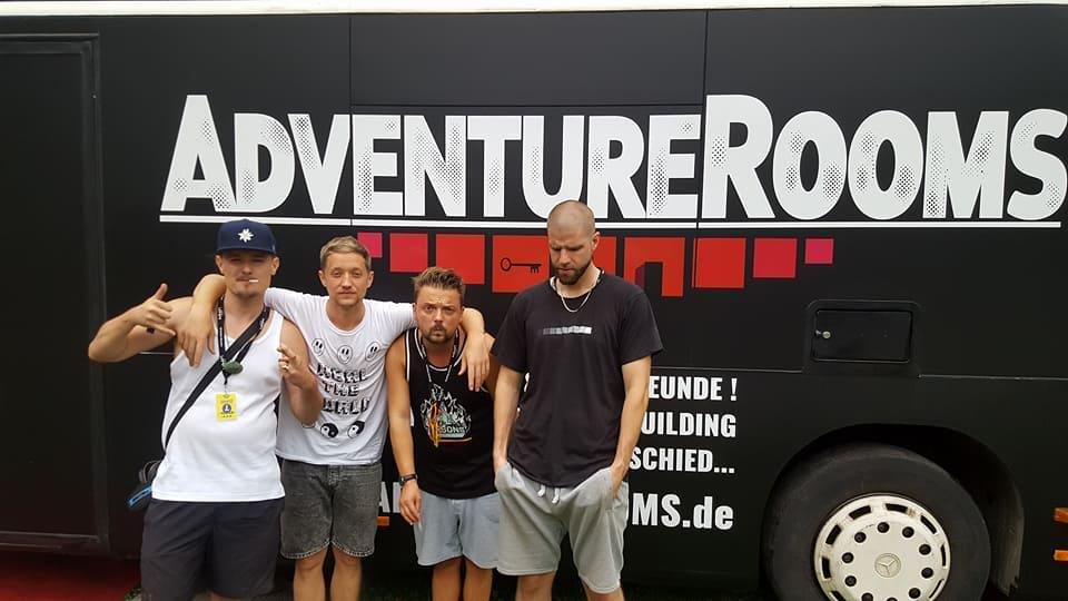 AdventureRooms on Tour Unirocks Dresden Festival Die Orsons