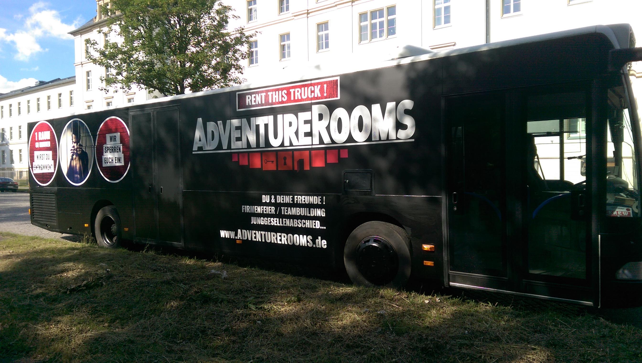 AdventureRooms on Tour mobiler Escape Game Bus