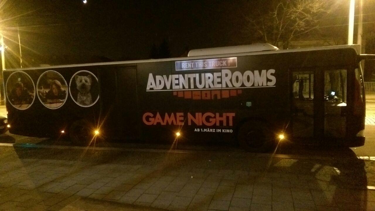 AdventureRooms on Tour im Design von Action-Komödie Game Night