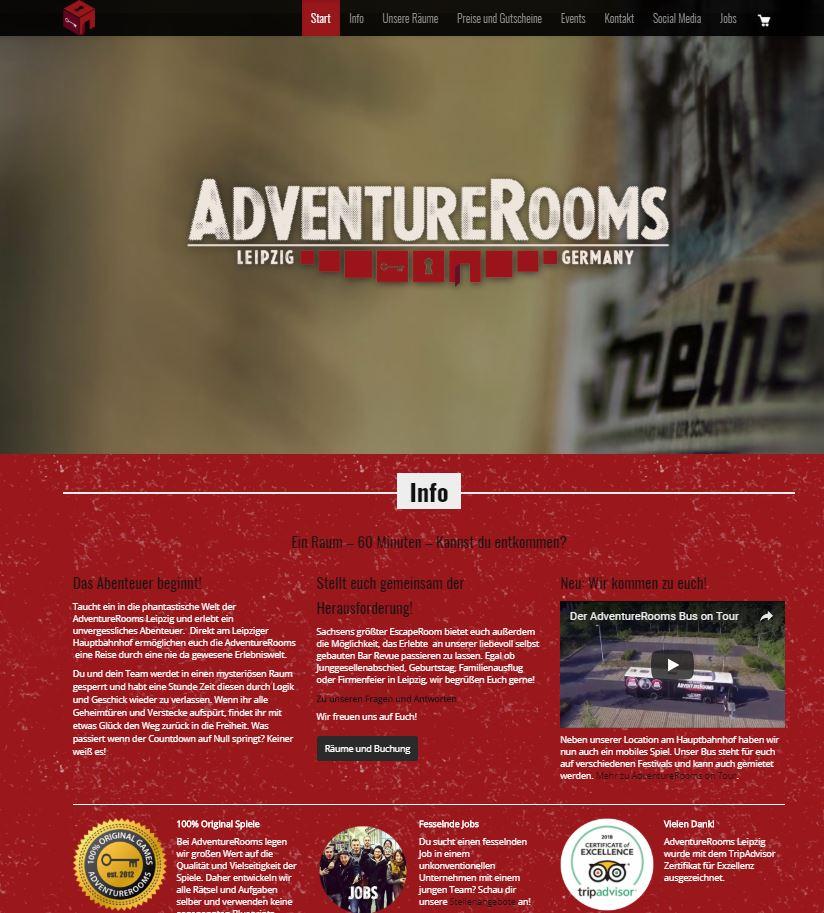 AdventureRooms Leizpig alte Website