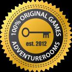 Escapes Rooms garantiert von AdventureRooms entwickelt
